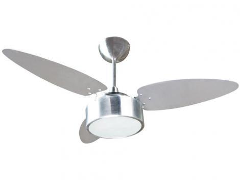 Ventilador de Teto Fharo Ventisol - 3 Pás 3 Velocidades Alumínio
