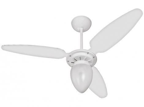 Ventilador de Teto Ventisol Wind 3 Pás Branco - para 1 Lâmpada