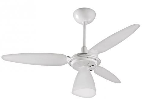 Ventilador de Teto Ventisol Wind Light 3 Pás  - Branco para 1 Lâmpada