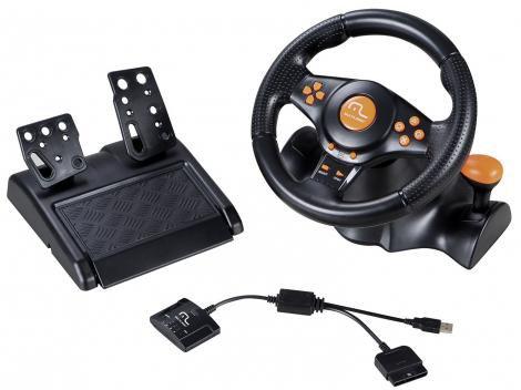 Volante para PC/PS2/PS3 Sem Fio Multilaser - Racer 3 em 1