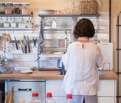 Use organizadores na cozinha