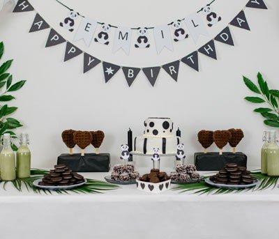 Enfeites de mesa pra festa